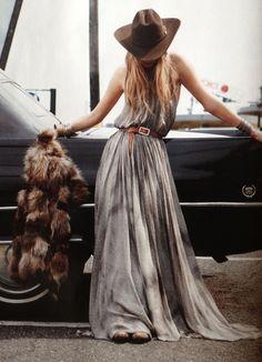 Boho Chic LOVE.. minus the fur!