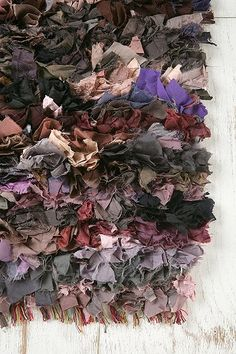 2' x 3' Mixed Media Shag Rug in Purples. on sale for $9.99 at Urban Outfitters!