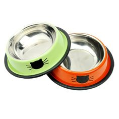 Cat Face And Mouse Stainless Steel Printed Pet Products Dog Bowls For Puppy Small Animals BQS08 Chihuahua Yorkie Cat Supplies