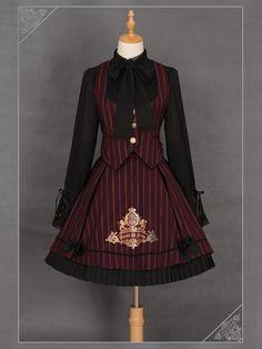 Ista Maiden -The Cornelia Academy- Striped Lolita Ouji Vest