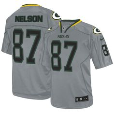 Nike Green Bay Packers  87 Jordy Nelson Elite Lights Out Grey Mens NFL  Jersey Christmas f307a56ad