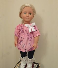 Pink Cowgirl Peasant Shirt for 1518 inch / by TeeTinyThings, $8.00