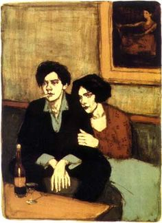 Malcolm Liepke: Hand Pulled Lithograph - Alone Together