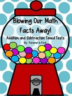 Ice Cream Math: Addition & Subtraction Fact Fluency   Student ...
