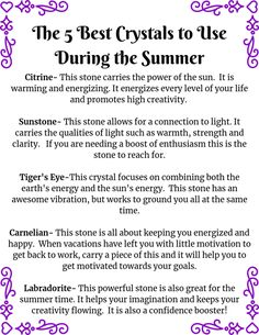 Ever think that there are certain crystals meant for certain seasons? Here are some of the best crystals for the summer! Ever think that there are certain crystals meant for certain seasons? Here are some of the best crystals for the summer! Tiger Eyes, Rose Quartz Meaning, Crystal Uses, Crystal Meanings, Be True To Yourself, Spirituality, Facts, Good Things, Seasons