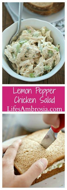 Lemon Pepper Chicken Salad is a lemony twist on the classic chicken salad.