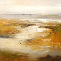 'Golden marshland' by Claire Wiltsher. 80x80cm, mixed media on canvas, £995. http://www.lyndhurstgallery.co.uk/gallery_detail.asp?id=1747#