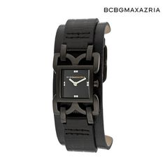 I found this amazing BCBGMAXAZRIA Women's Releve Watch - Black Dial with Black Genuine Leather Cuff at nomorerack.com for 64% off.  $58.00