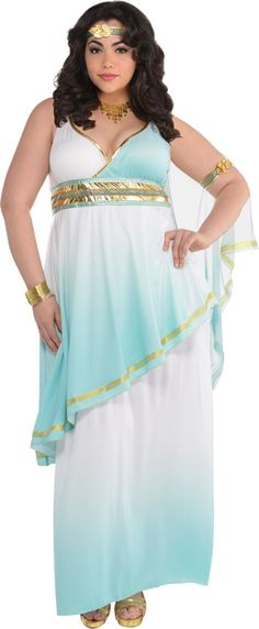 Adult Grecian Goddess Costume Plus Size - Party City     Plus Size Model: Nicole Zepeda, Agency: MSA Models (CURVE Division), Agent: Susan Georget
