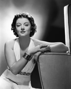 Myrna Loy; starred with William Powell in The Thin Man movie series. Clever movie writing! (used to stay up late and watch these with my mom!)