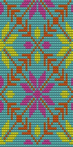 """The location where building and construction meets style, beaded crochet is the act of using beads to decorate crocheted products. """"Crochet"""" is derived fro Tapestry Crochet Patterns, Bead Loom Patterns, Crochet Stitches Patterns, Beading Patterns, Cross Stitch Patterns, Knitting Patterns, Mochila Crochet, Bag Crochet, Crochet Chart"""