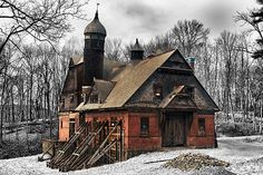 Abandoned barn, horse stable. by Robert Wirth - Love this! I would live in the horse stable.