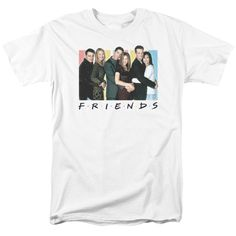 Submerge yourself in the world of Friends with this Cast Logo Adult T-Shirt. Now you can live out your fantasy and wear this officially licensed, white t-shirt made of 100% pre-shrunk cotton. Show the