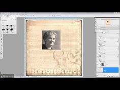 Digital Scrapbooking Tutorial: Creating Dimension with Digital Photos and Brushes - YouTube