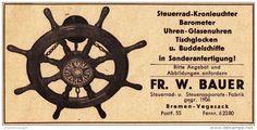 Original-Werbung/ Anzeige 1957 - STEUERRAD KRONLEUCHTER /BAROMETER /UHREN…