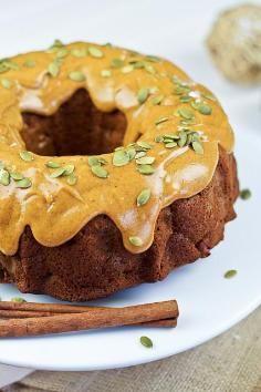 Healthy Pumpkin Apple Bundt Cake