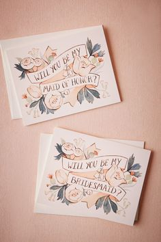 Will You Be Card from @BHLDN