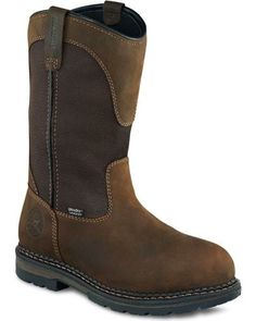 Irish Setter by Red Wing Shoes Men's Ramsey EH Waterproof Pull-On Work Boots - Aluminum Toe Pull On Work Boots, Tactical Wear, Red Wing Boots, Irish Setter, Wellington Boot, Sport Casual, Western Boots, Shoe Boots, Men Boots