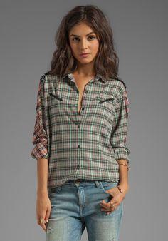 MAISON SCOTCH Checkered Shirt in Multi Plaid