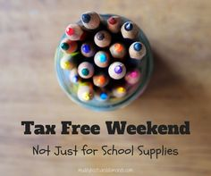 Tax Free Weekend: Not Just for School Supplies | Surprising products that are eligible for Tax Free Weekend via muddybootsanddiamonds.com