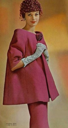 The French vintage fashion designer Jacques Heim Fifties Fashion, Retro Fashion, Vintage Fashion, Womens Fashion, Looks Chic, Looks Style, Vintage Vogue, Vintage Glamour, Look Fashion