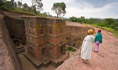 The church of Bet Giyorgis, Lalibela, Ethiopia.