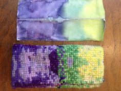 Waldorf ~ 4th grade ~ Handwork ~ Cross Stitch Pencil Case ~ design from original watercolor painting