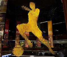 Leicester-based Ratcliffe Fowler Design helped Nike create a ball sculpture made of footballs in a South African shopping centre. Ball Man is located in Carlton Mall in Johannesburg and he stands 20 metres tall. Play Soccer, Soccer Ball, Nike Soccer, Creative Review, Football Art, Environmental Graphics, Sports Art, Installation Art, Art Installations