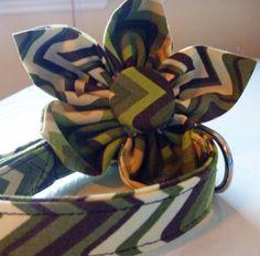 Garden Walk Collar & Flower  Made to Order  by katiesk9kollars, $23.00