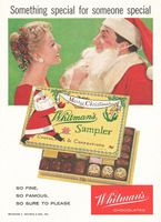 Whitmans Chocolates, Christmas Sampler 1957 Ad Picture