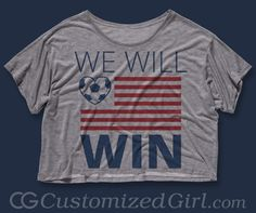 Custom #USA tees, tanks, crop tops, dressses and more at: http://www.customizedgirl.com/tag/usa  #worldcup #usmnt #worldcup2014