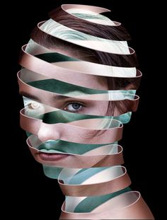 Create a surreal Escher style ribbon face effect in Photoshop