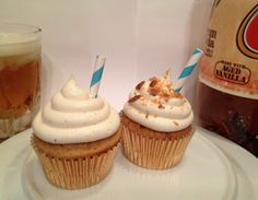 Italian Cream Soda Cupcakes Made with real vanilla, A & W Cream Soda, Italian cream, w/a twist baked into the cake, these cute & delicious cupcakes bring back memories of the diner days. Topped w/a blend of flavors reminiscent of Italian cream soda. A drink so good you could eat it.