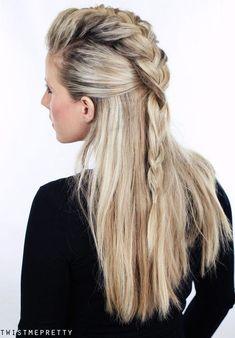 20 trendige Half Braided Frisuren
