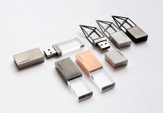 Empty Memory USB sticks by Logical Art.   Designed and crafted by Yoo-Kyung Shin and Hanhsi Chen.