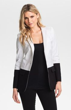 MICHAEL Michael Kors Colorblock Boyfriend Blazer available at #Nordstrom