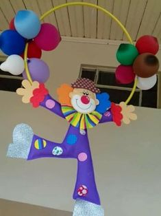 TwinSpace Kids Crafts, Clown Crafts, Carnival Crafts, Carnival Themes, Preschool Crafts, Diy And Crafts, Paper Crafts, Decoration Cirque, Decoration Creche