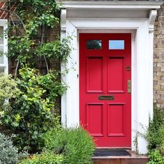Made to size exterior timber door, Georgian Burns style door, made to measure, top quality manufacture, raised mouldings to the panels. Wood Garage Doors, Garage Door Design, Timber Door, Cottage Front Doors, House Front Door, External Wooden Doors, Georgian Doors, Farm Door, Traditional Front Doors