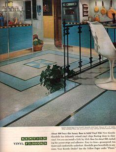 1960s Home Decor, Look Magazine, Vinyl Flooring, Magazines, Journals, Vinyl Floor Covering