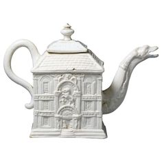Antique Staffordshire Pottery Stoneware Saltglaze Teapot circa 1770 | From a unique collection of antique and modern pottery at https://www.1stdibs.com/furniture/dining-entertaining/pottery/