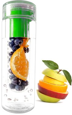 Infuser Water Bottle 28oz - Fruit Infusion Water Bottle and Travel Infuser - Camping Water Bottle BPA Free Shatter Proof Hyper Durable Polycarbonate - Eco Friendly Plastic Drinking Water Bottle - Citrus and Lemon Reusable Infusion Water Bottles -FREE Fruit Infuser Recipe and Body Detox Ebook Download Included - 100% Satisfaction Money Back Guarantee - Water Infuser by FusedFruit