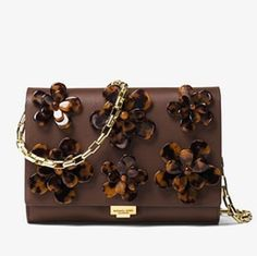 b8ab5b71a Michael Kors Collection Yasmeen Small French Calf Floral Clutch Nutmeg Leather  Shoulder Bag - Tradesy Floral