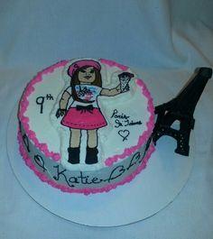 Grace The American Girl icing transfer birthday cake Paris je'taime #Theamericangirl#Gracethomas#parisjetaime