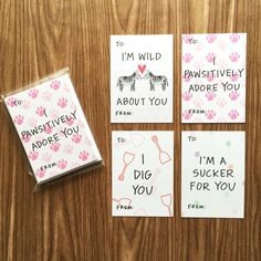 Kids School Valentines Sweet Sayings Mini Valentine's Day Assorted Card Pack from Happy Cactus Designs // All designs are copyright Happy Cactus Designs