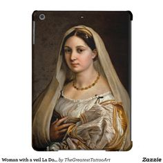 SOLD! - Woman with a veil La Donna Velata Raphael Santi iPad Air Cases