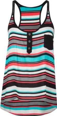 FULL TILT Stripe Womens Hi Low Tank-$19.99