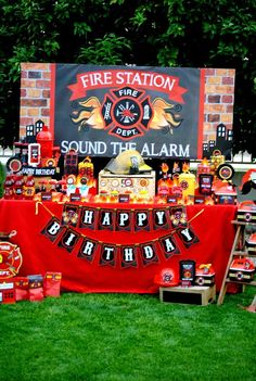 Fire Fighter Birthday Party Ideas | Photo 47 of 112 | Catch My Party