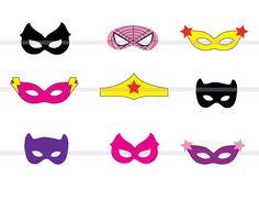 Girl Felt Superhero Mask Templates | Free girl, Superhero birthday ...