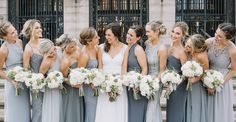 Mismatched  bridesmaids dresses that work