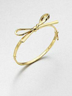 Skinny Bow Bangle Bracelet // Kate Spade
